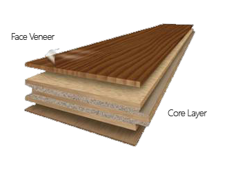 illustration of engineered floor